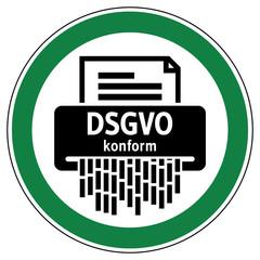 srg20 SignRoundGreen - Akten Aktenvernichter - Datenschutzgrundverordnung DSGVO konform - Personenbezogene Dokumente sicher vernichten - Partikelschnitt mit mindestens Sicherheitsstufe 4 - grün g6142