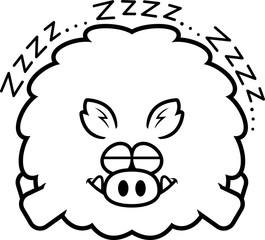 Cartoon Boar Sleeping