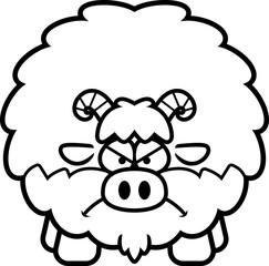 Angry Cartoon Goat