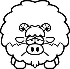 Sad Cartoon Goat