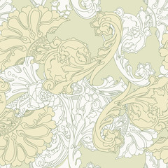Elegance seamless leaves pattern