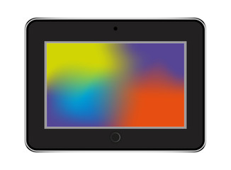 tablet in ipad style black color with trending backgrounds
