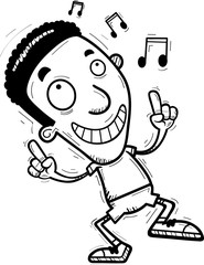 Cartoon Black Man Dancing