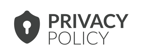 Privacy Policy graphic used for Header banner or web page w the icon symbol