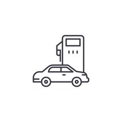 Petrol station linear icon concept. Petrol station line vector sign, symbol, illustration.