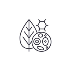 Plant cells linear icon concept. Plant cells line vector sign, symbol, illustration.