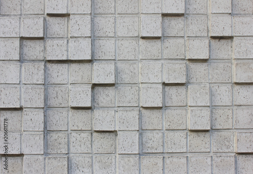 Ornamental Gray Brick Wall Texture Background Decorative