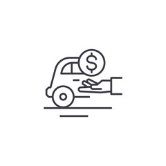 Tips linear icon concept. Tips line vector sign, symbol, illustration.