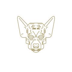 Animal Icons Set Dog breeds Logo on white background. The vector of dog. It is good minimal iconic for