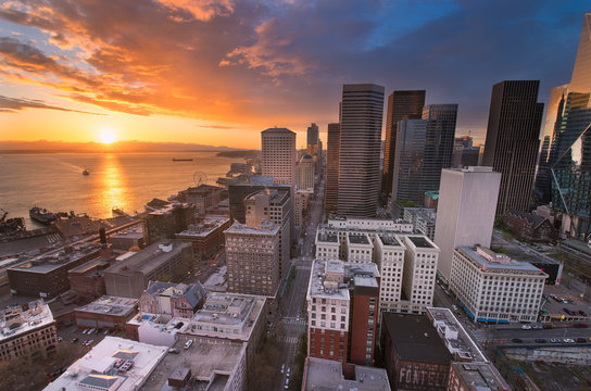 The Seattle Skyline from the Smith Tower