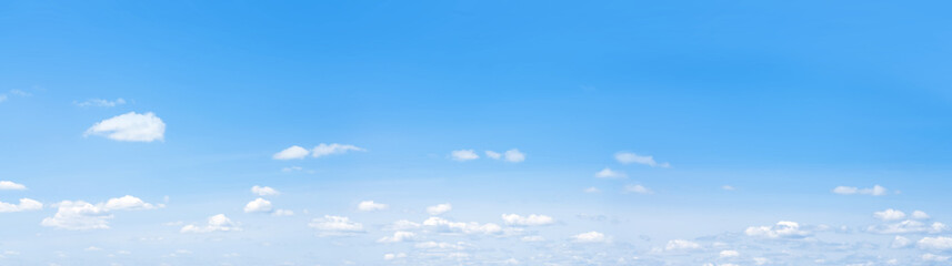 blue sky with clouds background wide panorama