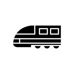 Passenger railways black icon concept. Passenger railways flat  vector symbol, sign, illustration.