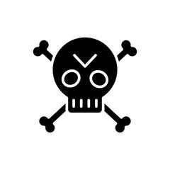 Pirate symbol black icon concept. Pirate symbol flat  vector symbol, sign, illustration.