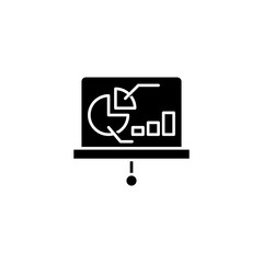 Presentation infographics black icon concept. Presentation infographics flat  vector symbol, sign, illustration.