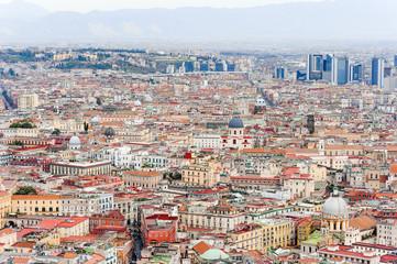 Naples buildings cityscape panoramic view, Campania, Italy