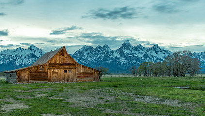 barn, landscape, house, mountain, farm, old, mountains, sky, nature, building, wood, grass, cabin, rural, wyoming, summer, wooden, field, teton, cottage, park, architecture, t. a. moulton barn, backgr