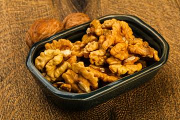 Opened walnuts