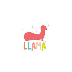 Lama logo template. Animal logo template