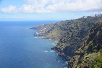 Costa en la isla de Tenerife, España