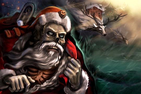 Santa in town - Stock Image