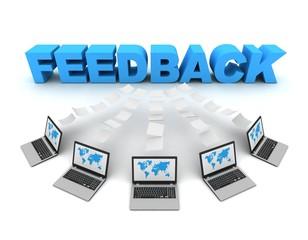feedback 3d concept illustration