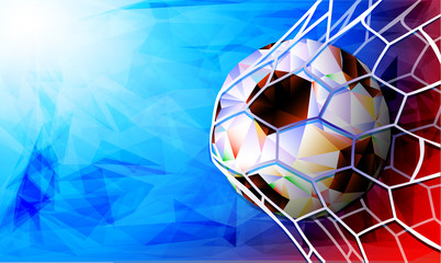 Football 2018 World Championship Background Soccer Russia. Vector illustration.