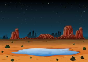 Arizona Landscape at Night Time