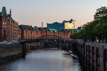 Elbphilharmonie in der Abendsonne