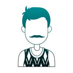 Young man casual clothes cartoon vector illustration graphic design