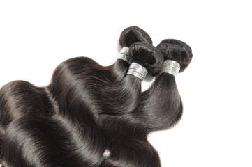 Virgin remy body wavy black human hair weaves extensions bundles Wall mural