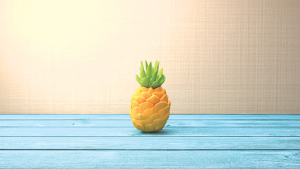 3d rendering picture of pineapple craft.