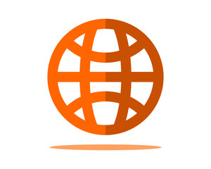 orange globe business company office corporate image vector icon logo