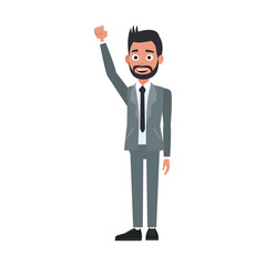 Politician waving cartoon vector illustration graphic design