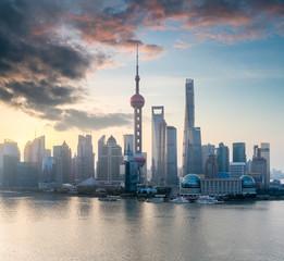 Foto op Aluminium Shanghai shanghai cityscape with morning glow