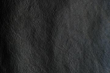 Dark black skin cowhide genuine leather