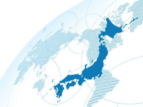 日本地図 世界地図 グローバル ビジネス