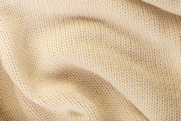 woolen knitted fabric close-up