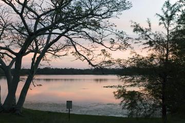 Inside Secret Lake park at sunset in Casselberry Florida