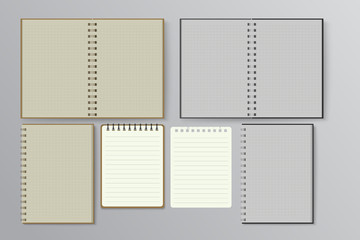 notebook with lined.Vector illustration