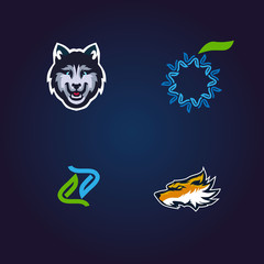 set simple  logo for company or sport team
