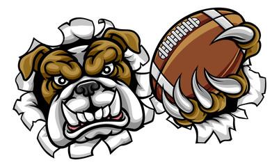 Bulldog American Football Sports Mascot