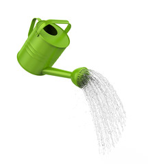 Watering Can Pouring Water Isolated