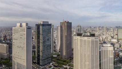 Beautiful aerial view of downtown, Tokyo, Japan