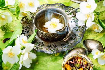 Wall Mural - Green tea with jasmine