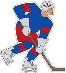Ice hockey player sticker