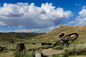 Discarded Mining equipment left in the American Ghost Town of Bodie, on the California Nevada Border