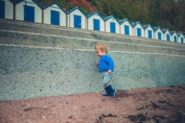 Little toddler boy on the beach