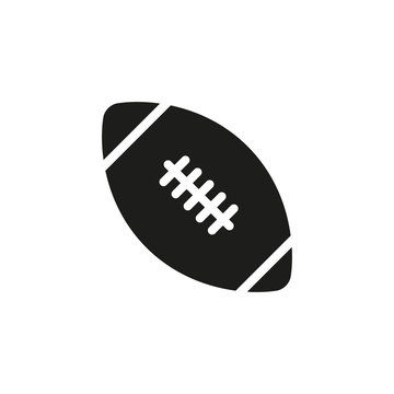 American Football Emblem Flat Icon On White Background