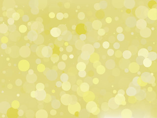 Golden yellow gradient background with bokeh effect. Abstract blurred pattern. Light background Vector illustration