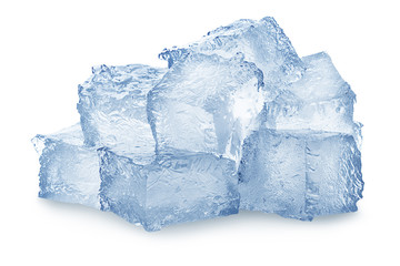 ice, cube, clipping path, full depth of field